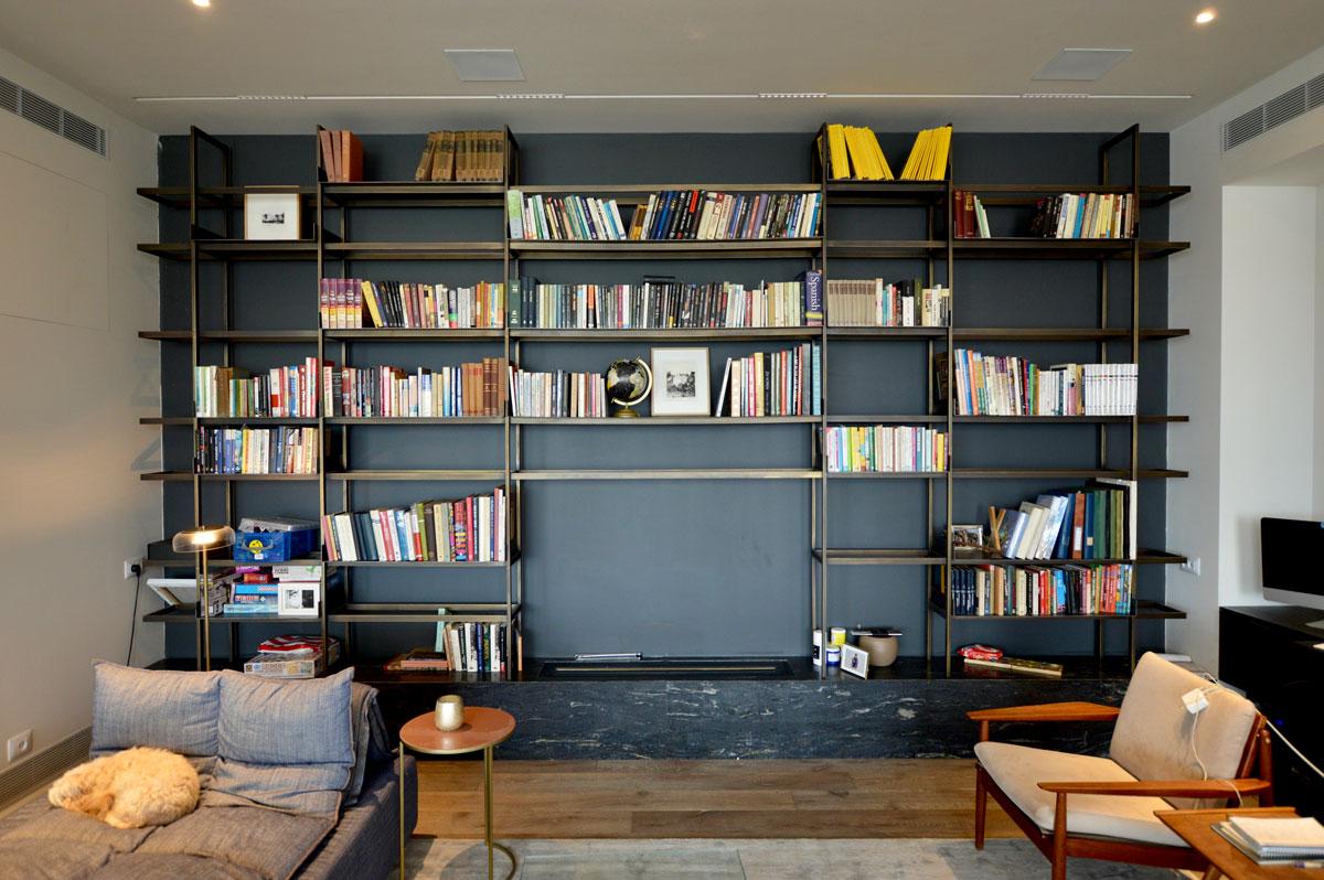עיצוב ספריות לסלון